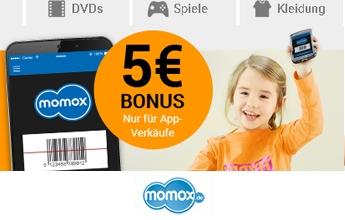 5 EUR Bonus bei Momox