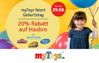20 % Rabatt auf Hasbro bei Mytoys.de